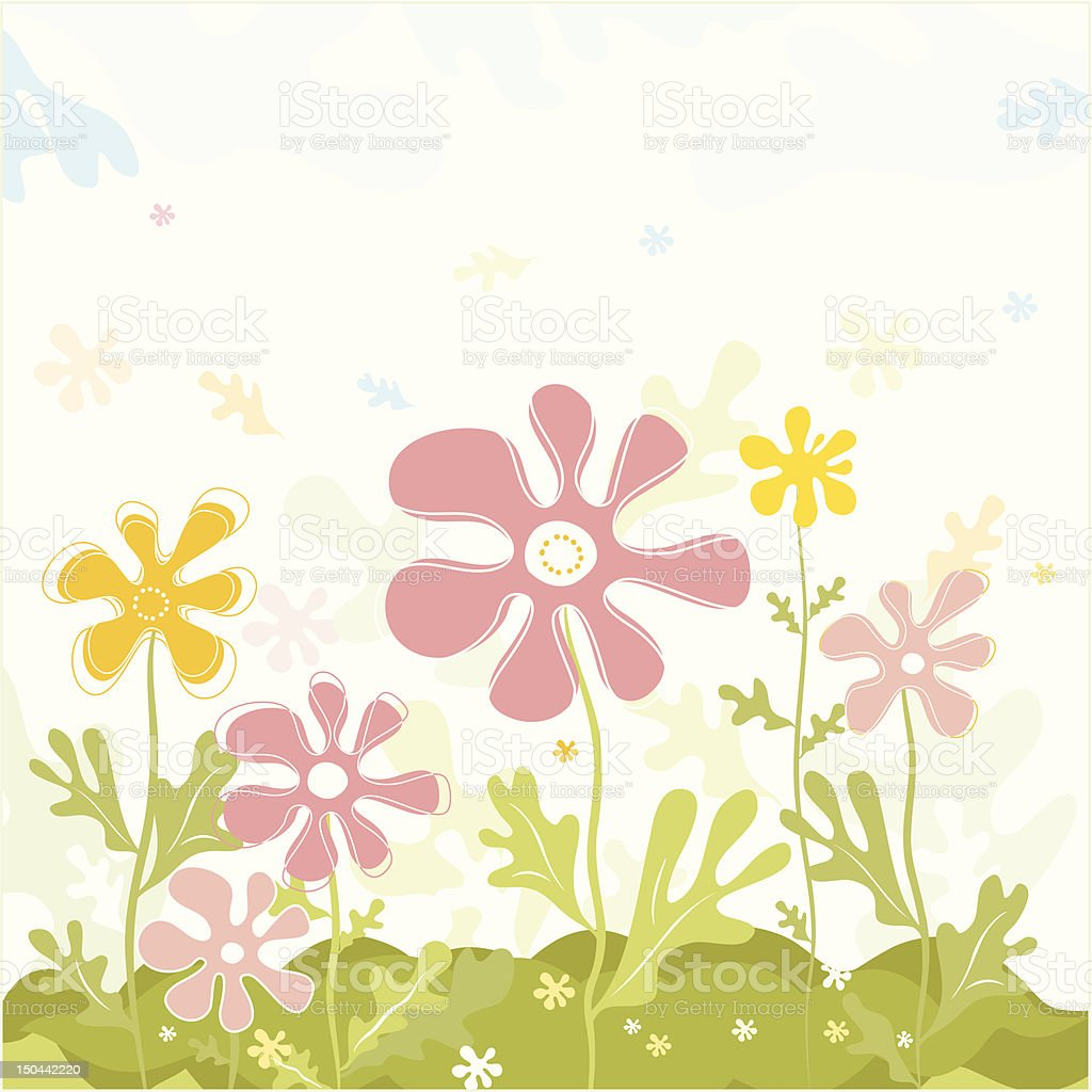 Spring Flowers Vector Stock Vector Art More Images Of Abstract
