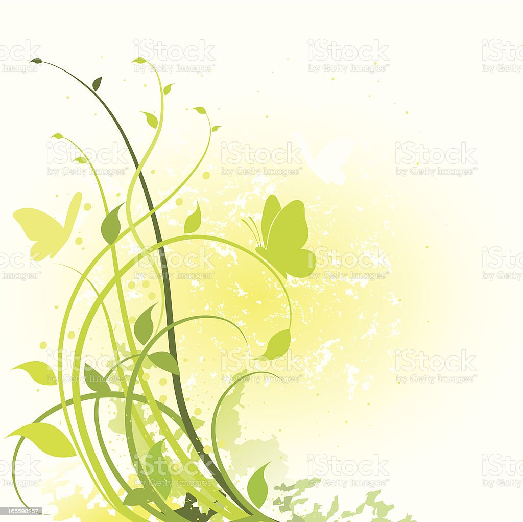 Spring Foliage vector art illustration