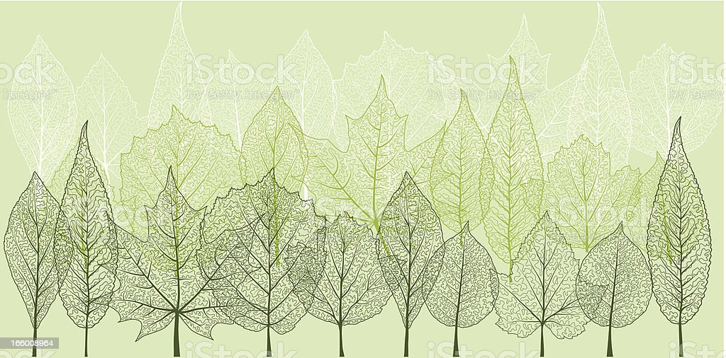 spring forest royalty-free stock vector art