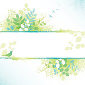 Spring Frame with leaves, birds and grunge texture. File is layered and global colors used.  Hi res jpeg included in download. Scroll down to see more of my illustrations.