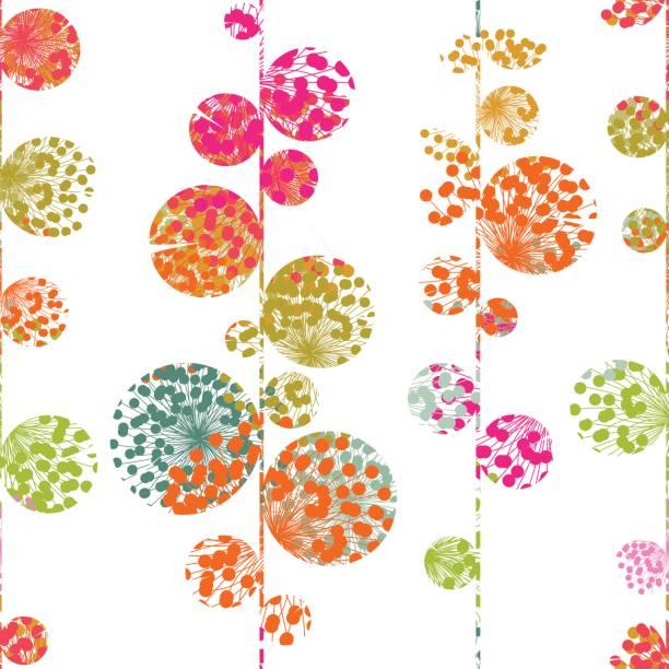 Spring garden seamless pattern vector art illustration