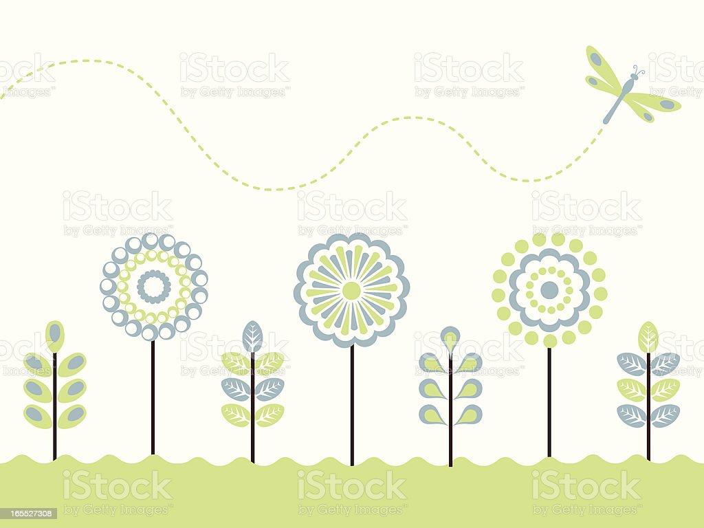 Spring Garden royalty-free stock vector art