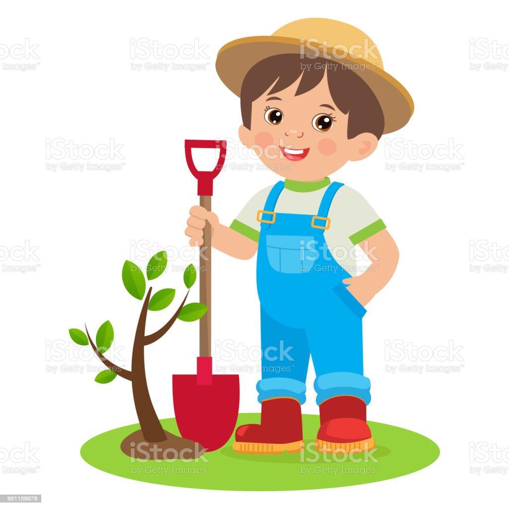 Dibujos de una joven trendy feliz joven avatar imagen de for Trabajo jardinero
