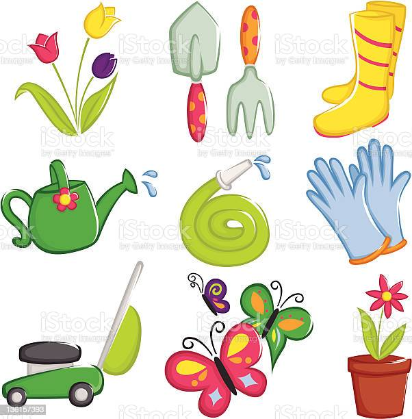 Spring gardening icons vector id136157393?b=1&k=6&m=136157393&s=612x612&h=8u1twhlzw1zxqfokkrqqwyzda5wy5fq9halxtoc8hlg=