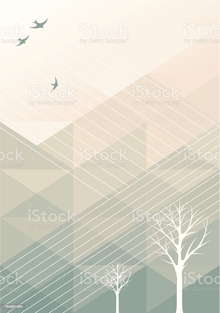 Spring geometric background royalty-free stock vector art