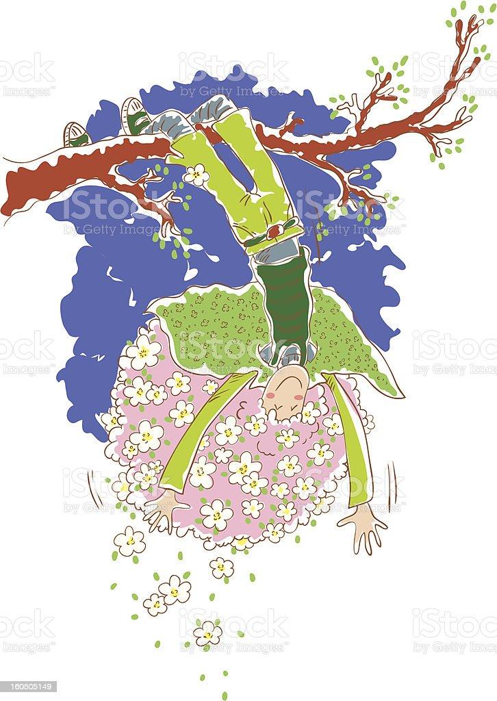 Spring girl royalty-free stock vector art