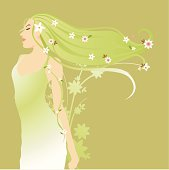 Spring Goddess in the wind.