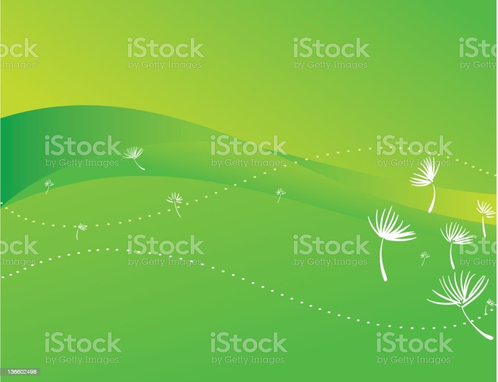 spring green vector art illustration