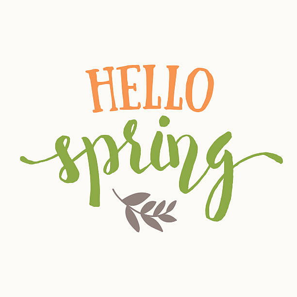 Royalty Free Hello Spring Clip Art, Vector Images ...