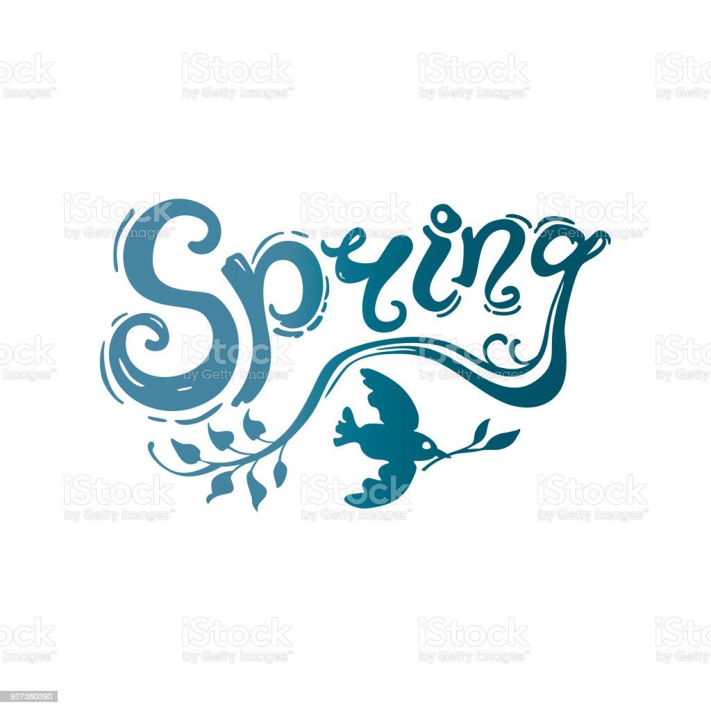 Primavera Plantilla De Escritura A Mano - Arte vectorial de stock y ...