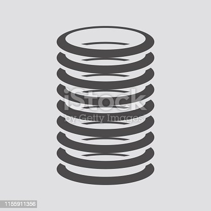 Spring icon in flat style.Vector illustration.