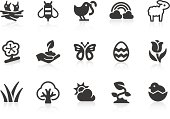 Monochromatic spring related vector icons for your design and application. Raw style. Files included: vector EPS, JPG, PNG.