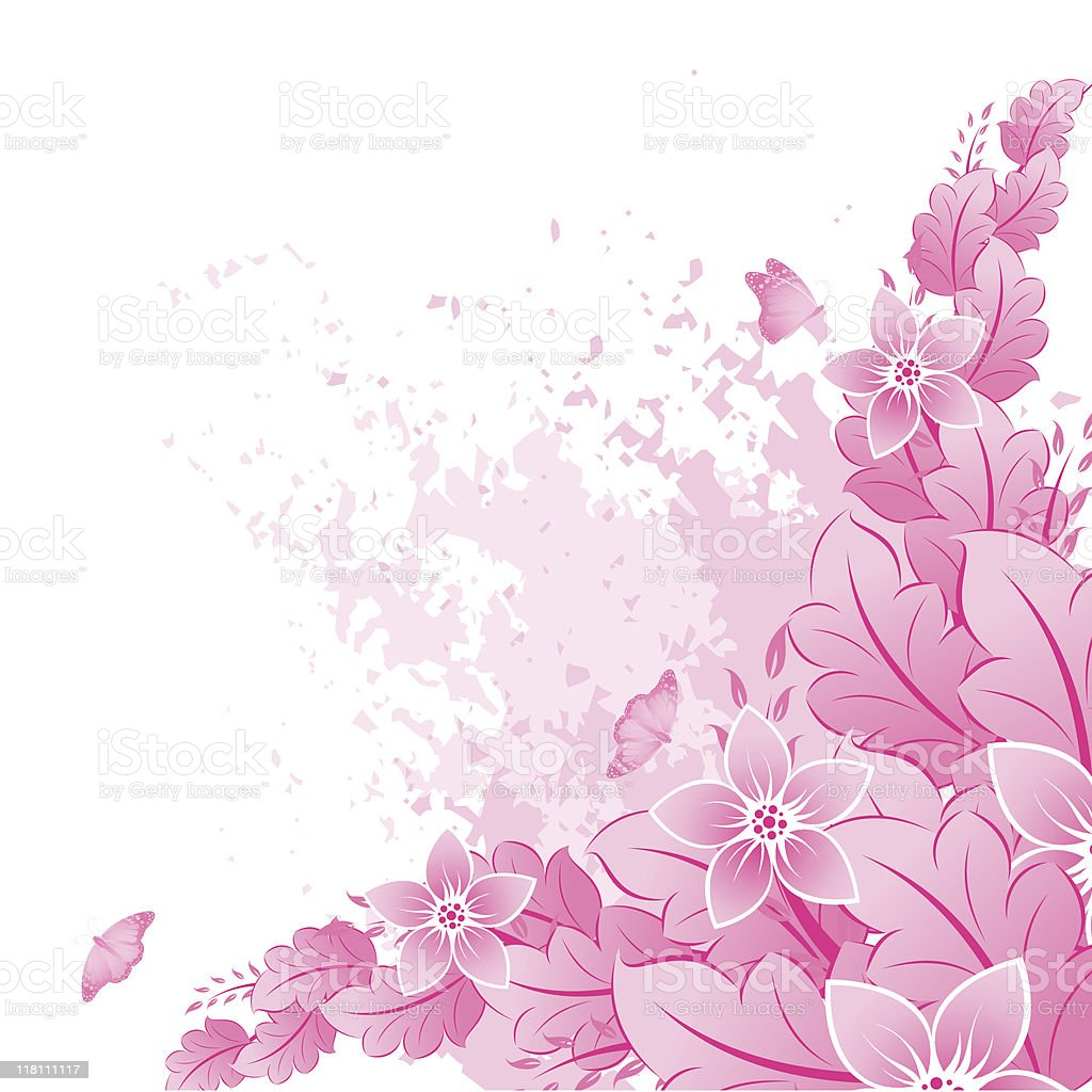 Spring in pink royalty-free stock vector art