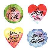 Spring watercolor labels