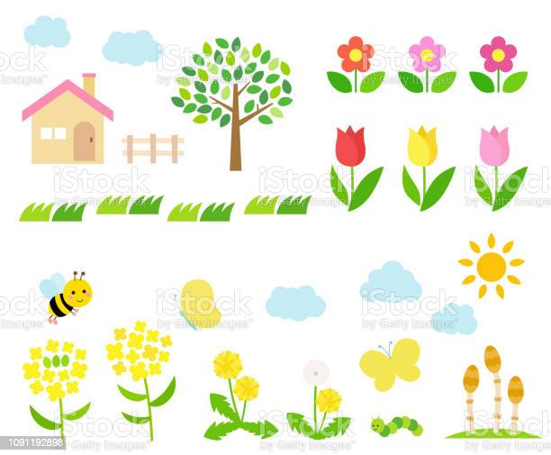 Spring landscape illustration set vector id1091192898?b=1&k=6&m=1091192898&s=612x612&h=gae5uyidubwpup 81 un6jkyjlhcvizocxzmly9i9oe=