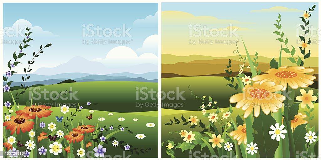 Spring Landscape... royalty-free stock vector art