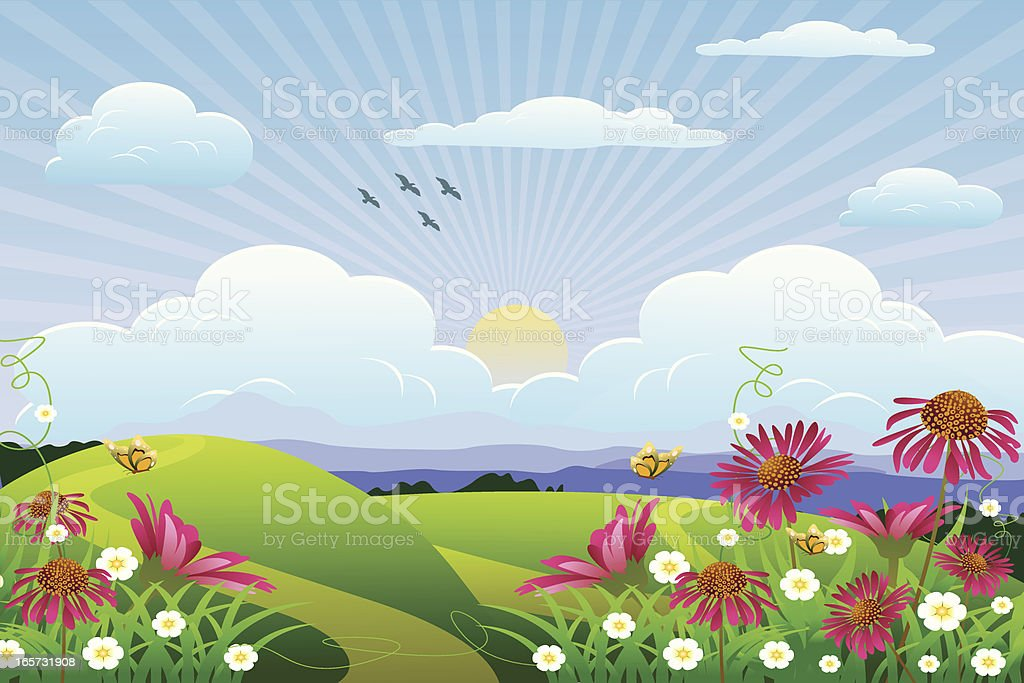 Spring Landscape... royalty-free stock vector art