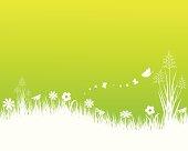 Spring Summer Landscape. ZIP contains AI format, PDF and jpeg XXXLarge.