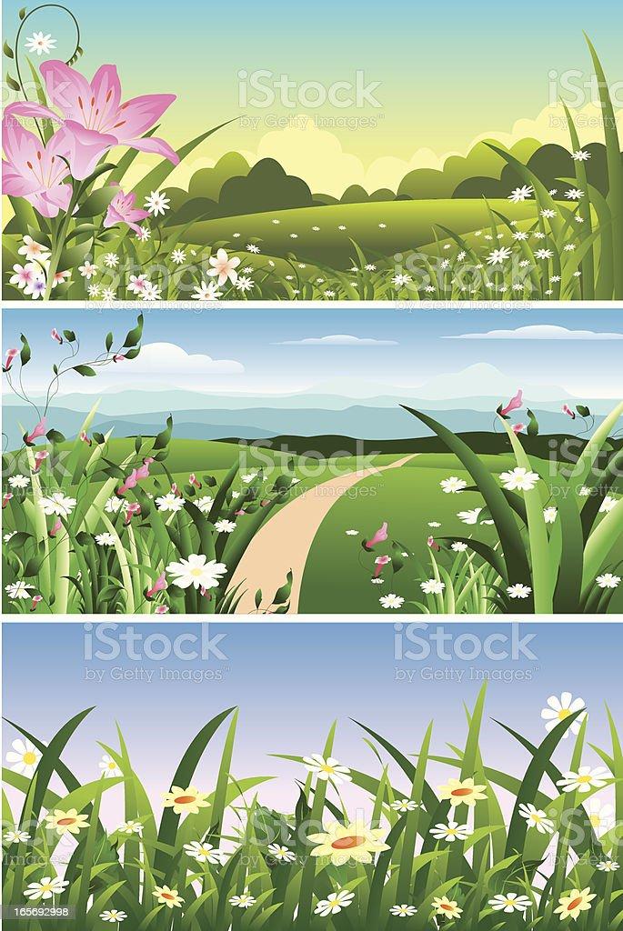 Spring Landscape/Banner royalty-free spring landscapebanner stock vector art & more images of backgrounds