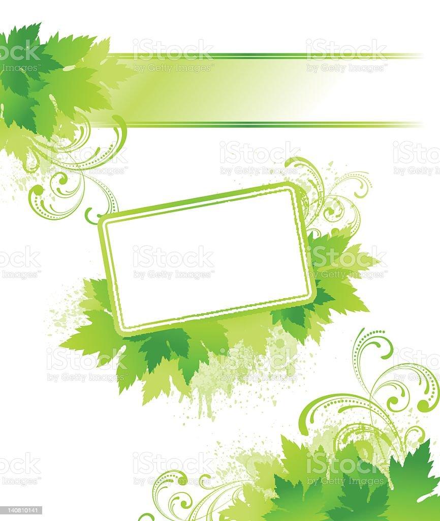 Spring leaf Design Element royalty-free stock vector art