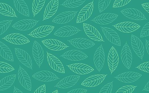 Spring Leaf Seamless Background Pattern