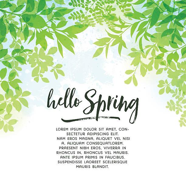 春の葉のバックグラウンド - 葉のバックグラウンド点のイラスト素材/クリップアート素材/マンガ素材/アイコン素材