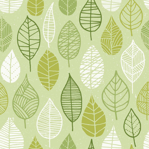Spring Leaves Seamless Pattern. – Vektorgrafik