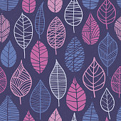Spring Leaves Seamless Pattern. - Illustration