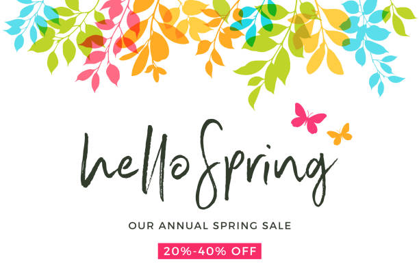 spring leaves - flower backgrounds stock illustrations, clip art, cartoons, & icons