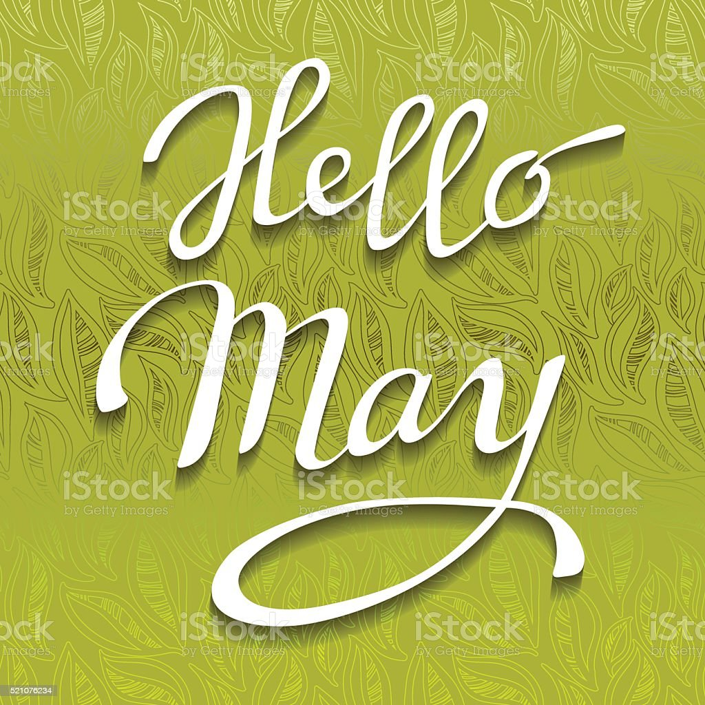 Spring lettering card. vector art illustration