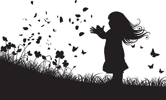 Spring Little Girl Concept
