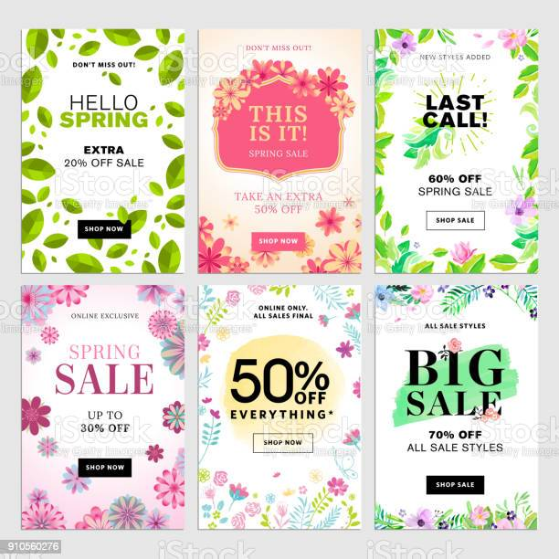 Spring mobile sale banners set vector id910560276?b=1&k=6&m=910560276&s=612x612&h=mdtvb ujqwf4g3lky2w rxukhzgmmfzhwt0z1rnah1a=