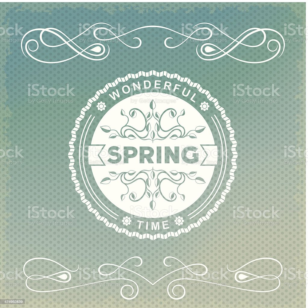 Spring old-fashion label royalty-free spring oldfashion label stock vector art & more images of abstract