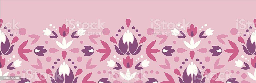 Spring Ornament Horizontal Seamless Pattern Border royalty-free stock vector art