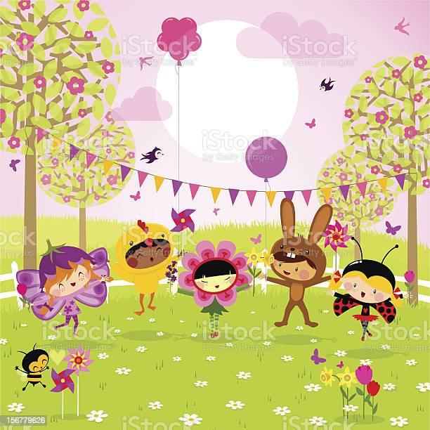 Spring party fun kids vector id156779626?b=1&k=6&m=156779626&s=612x612&h=yzbuooork9xo2f jy4q4bic5bl0zqoz toljbbas0ea=