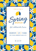 Spring Party Invitation Template.