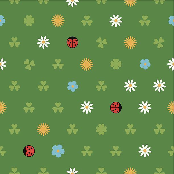 stockillustraties, clipart, cartoons en iconen met spring pattern - fresh start yellow