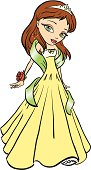She's welcoming in the new season in a daffodil gown and jade wrap!