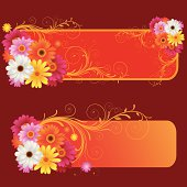 Illustration of Beautiful spring retro banner, all elements is individual objects. No transparencies, contains AI and jpeg, user can edit easily, all layers are separate, Please view my profile.