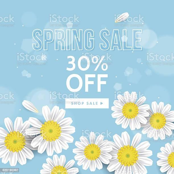 Spring sale banner design with realistic daisy flowers vector id639190062?b=1&k=6&m=639190062&s=612x612&h=ju9wsslwnbjv7h9kzppv1hnivrnq7iprq3t4970mehw=