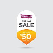 Spring Sale banner stock illustration
