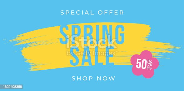 istock Spring Sale design for advertising, banners, leaflets and flyers. 1302408358