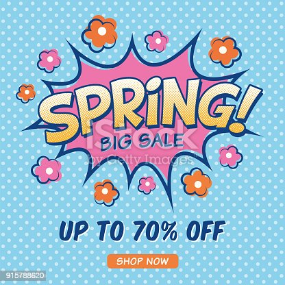 Spring Sale design for advertising, banners, leaflets and flyers.