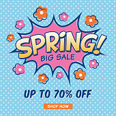 Spring Sale design for advertising, banners, leaflets and flyers. - Illustration - Vector.