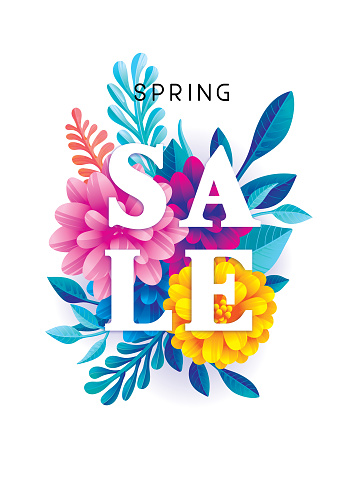 Spring sale flowers