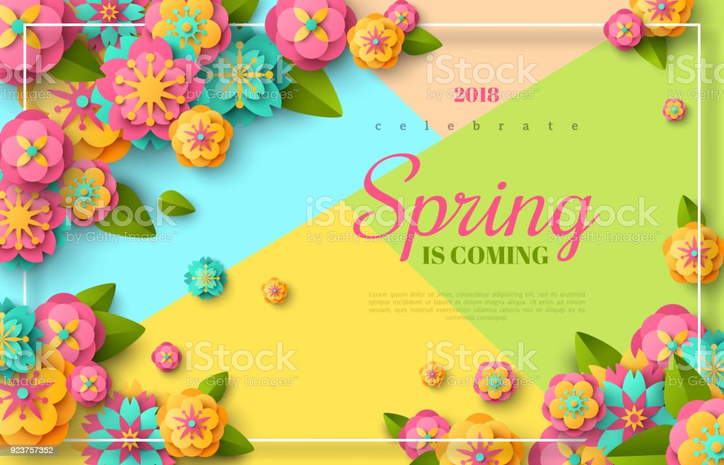 Spring sale flyer vector art illustration