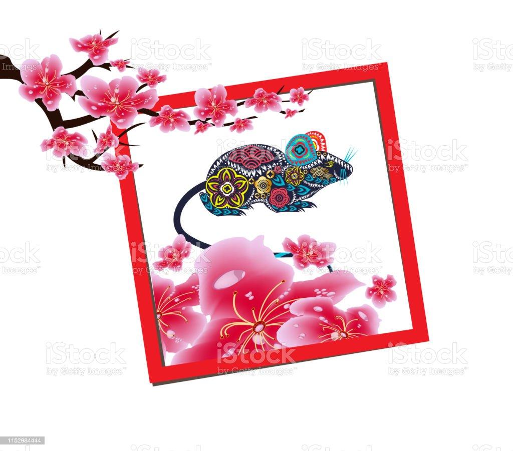 Spring sale label design with sakura flowers. Cherry blossoms,...