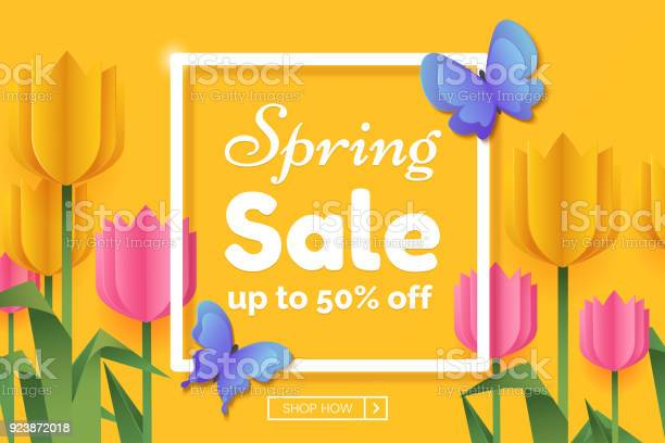 Spring sale promo banner with paper flowers and butterflies spring vector id923872018?b=1&k=6&m=923872018&s=612x612&h=ee91xfgedqn6eafu2o2bbsdv9aymz5deiqzneia6cj4=