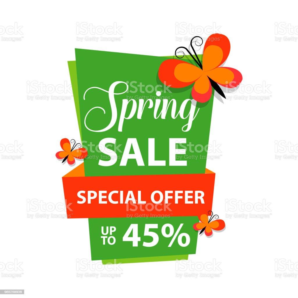 Spring Sale Special Offer up to 45% Vector Template Design spring sale special offer up to 45 vector template design - stockowe grafiki wektorowe i więcej obrazów abstrakcja royalty-free