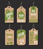 Collection of cardboard sales labels. Can be used as price tags.